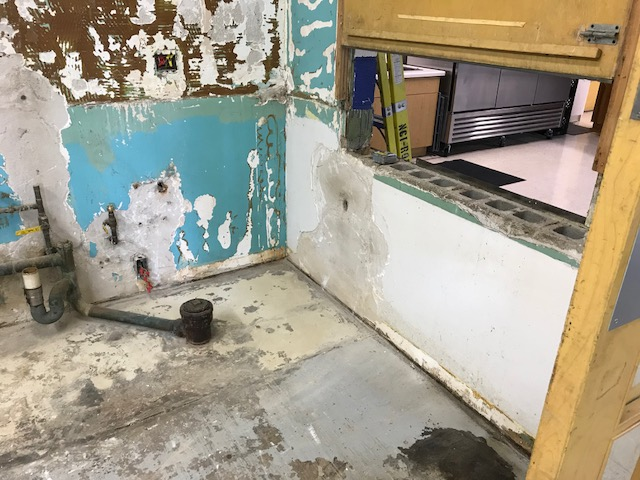 Kitchen remodel - the wall was in rough shape